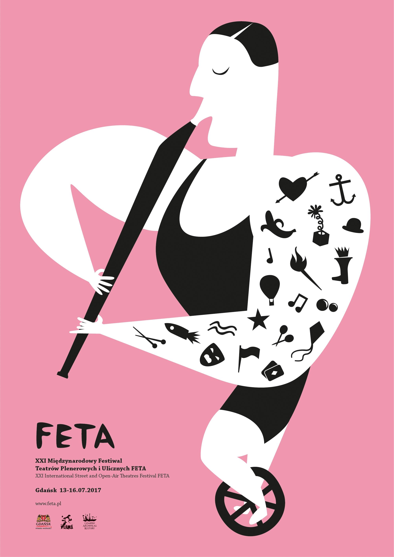Plakat FETA 2017, proj. Agata Stachowiak (źródło: materiały prasowe organizatora)