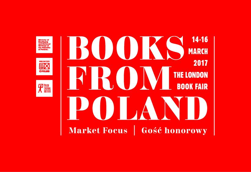 Books From Poland, Londyńskie targi Książki – logotyp (źródło: materiały Instytutu Książki)