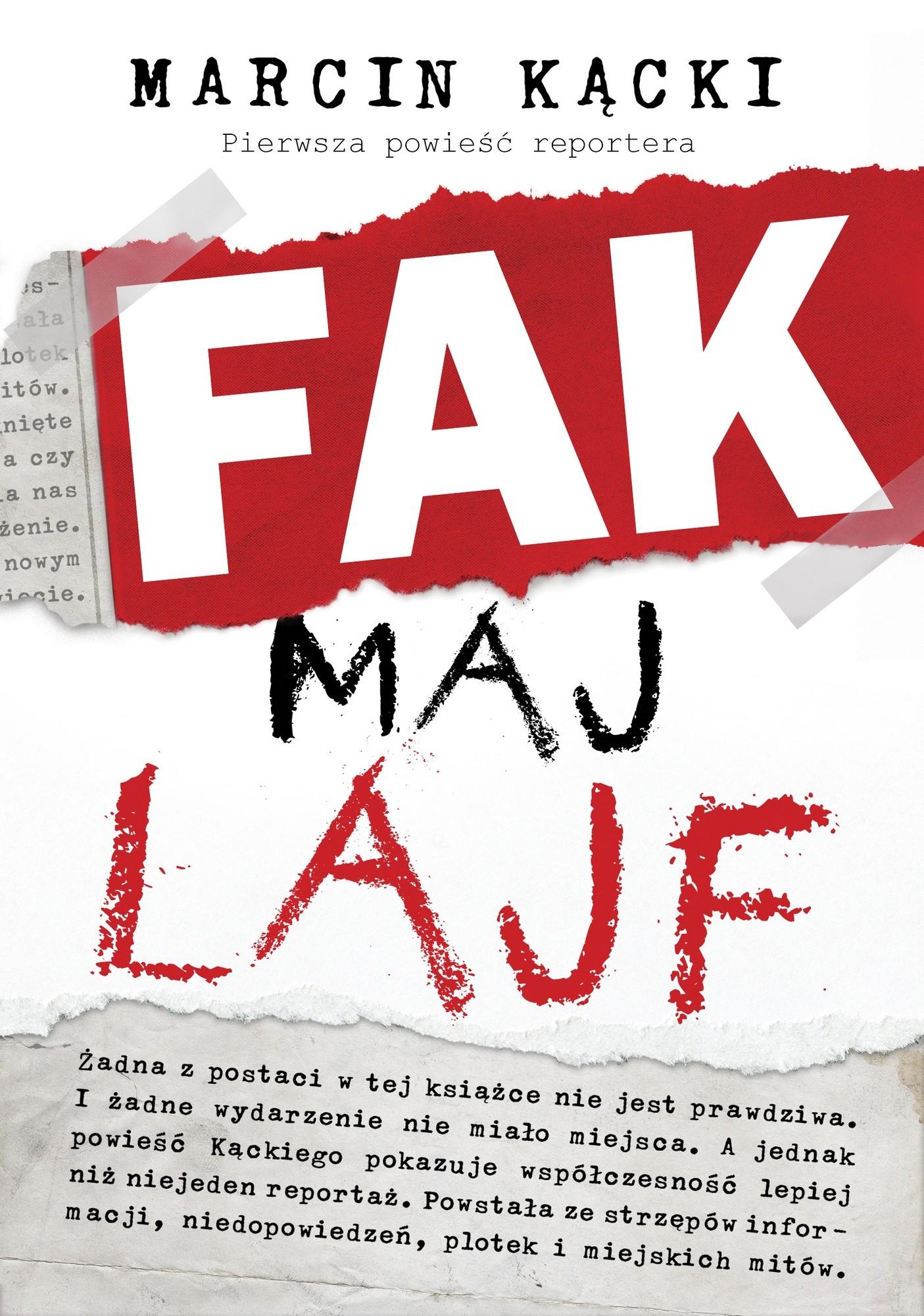 """Marcin Kącki, """"Fak maj lajf"""" – okładka (źródło: materiały prasowe wydawcy)"""