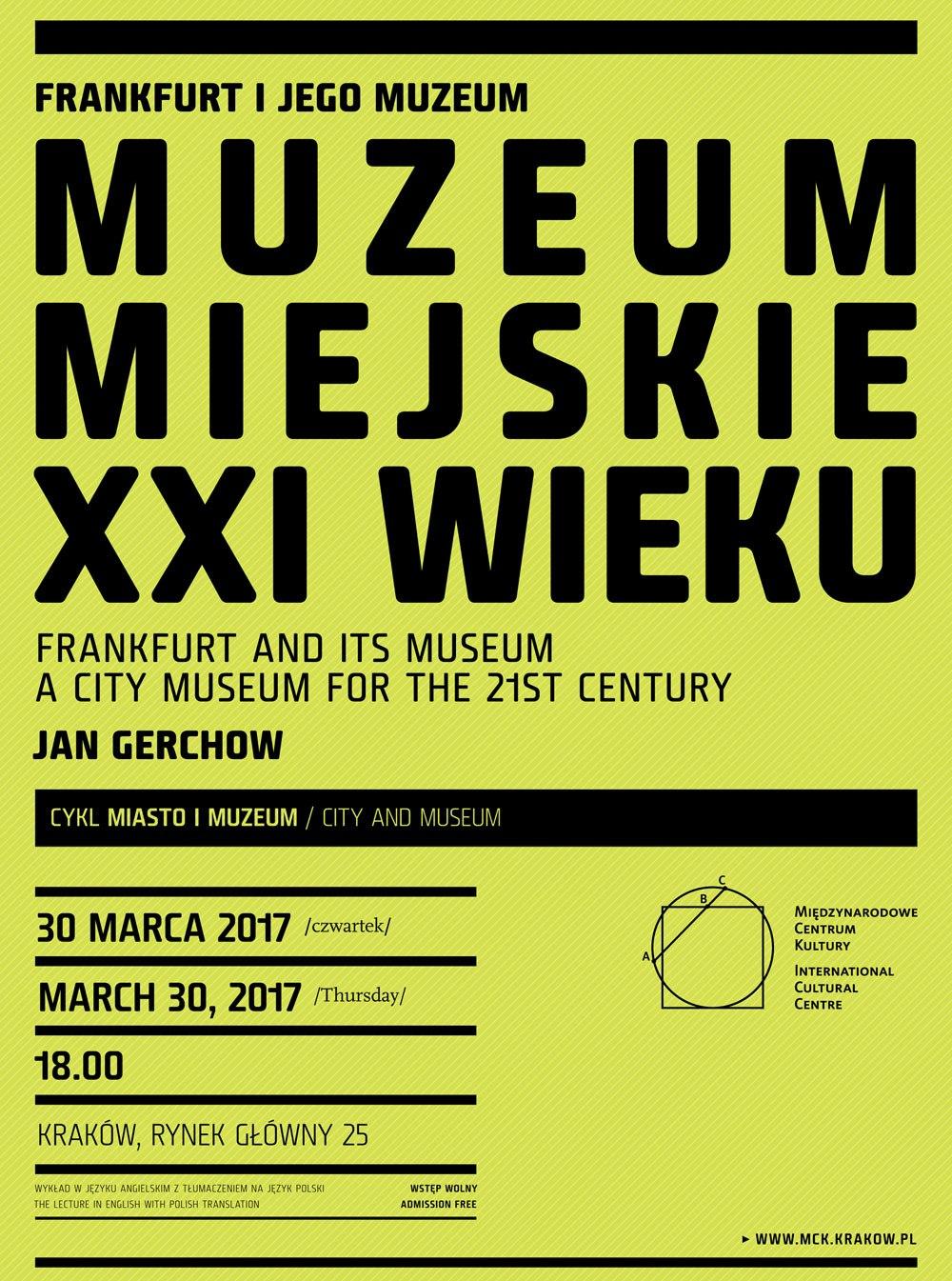 """""""Frankfurt i jego muzeum. Muzeum miejskie w XXI wieku"""" (źródło: materiały prasowe organizatora)"""