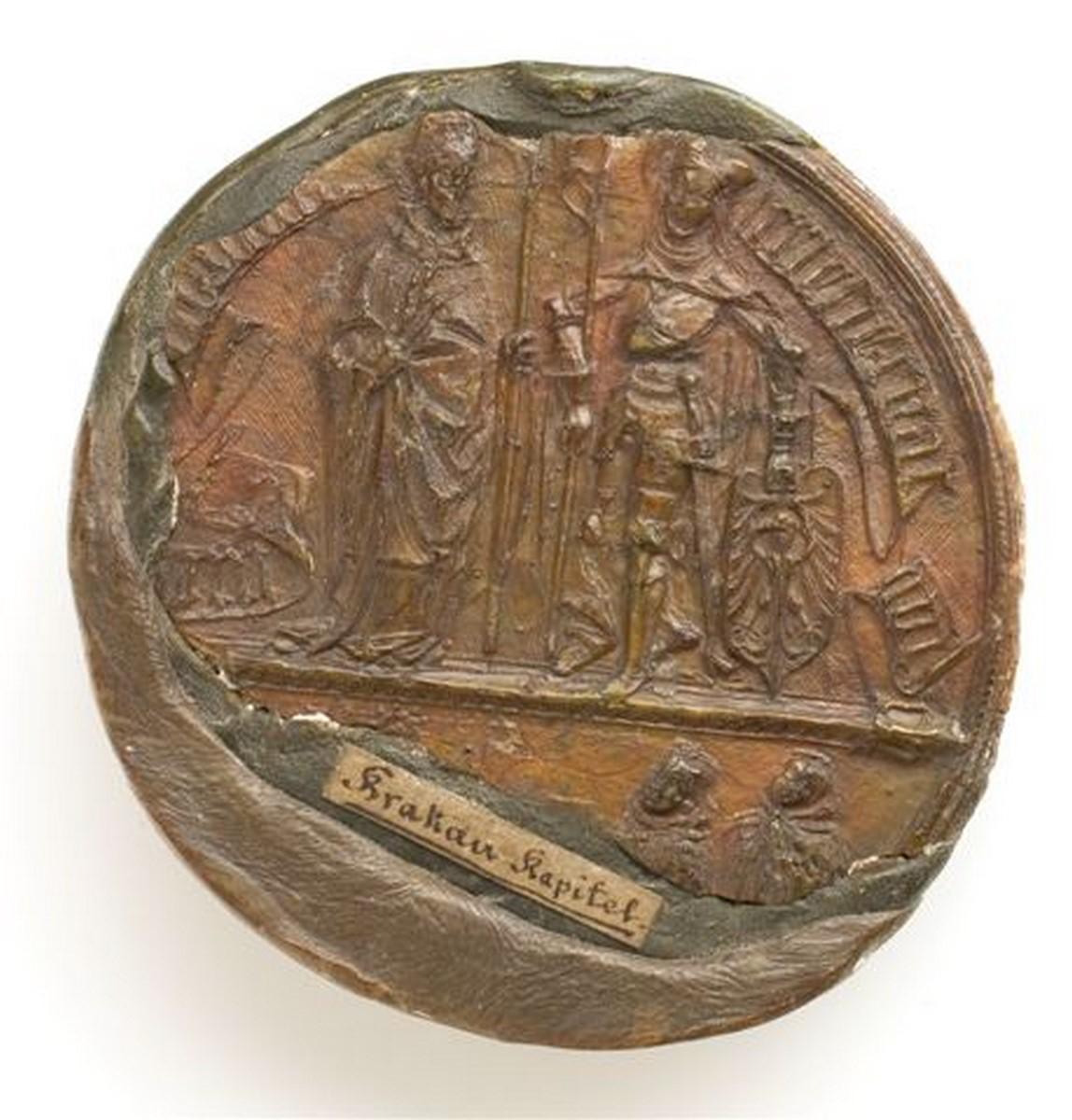 Pieczęć krakowskiej kapituły katedralnej, 2 poł. XV w. (źródło: materiały prasowe organizatora)