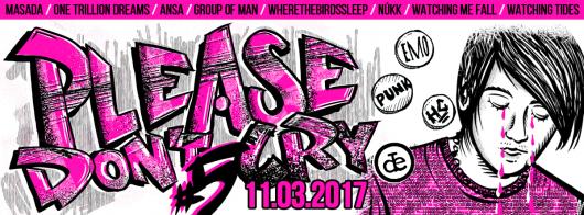Please Don't Cry Fest 5 – plakat autorstwa UGH! (źródło: materiały prasowe organizatora)