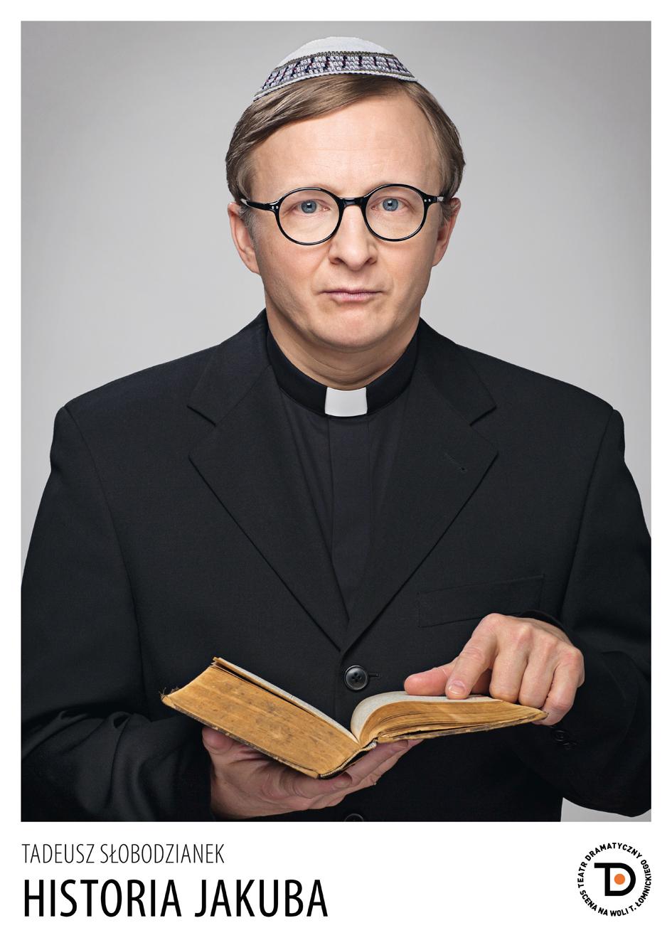 """Tadeusz Słobodzianek, """"Historia Jakuba"""", reż. Ondrej Spišak – plakat (źródło: materiały prasowe)"""