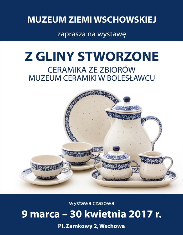 """""""Z gliny stworzone. Wystawa ze zbiorów Muzeum Ceramiki w Bolesławcu"""" (źródło: materiały prasowe organizatora)"""