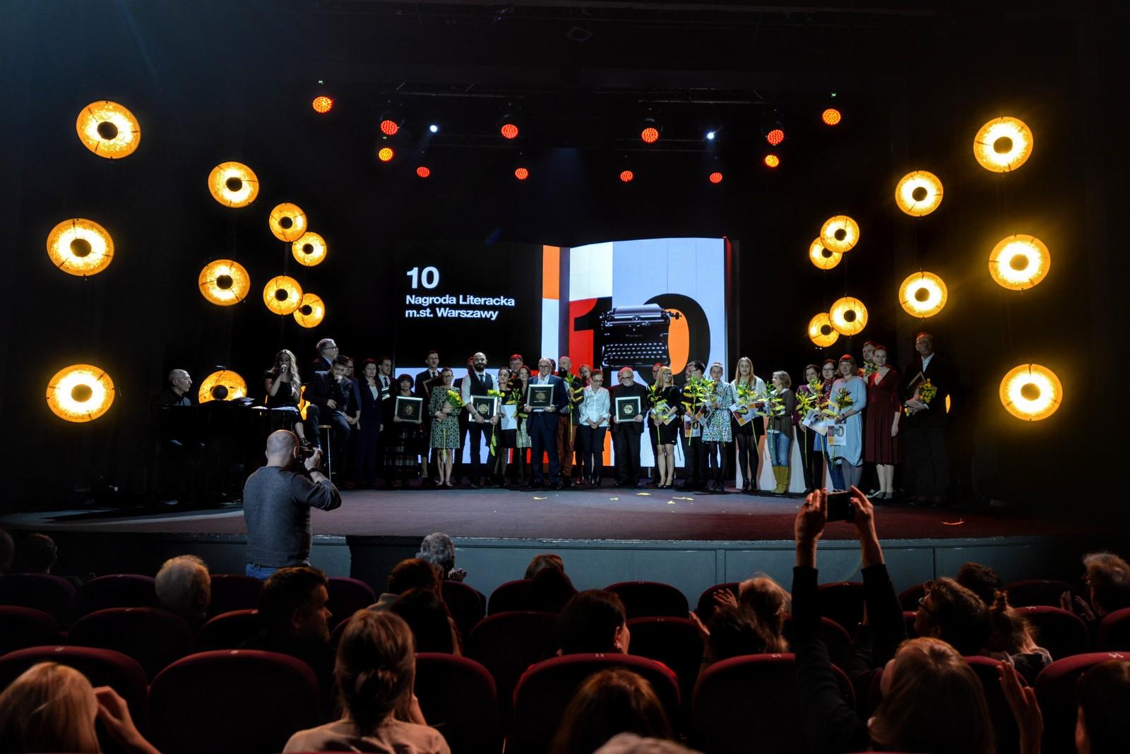10. Nagroda Literacka m.st. Warszawy – laureaci (źródło: materiały prasowe organizatora)