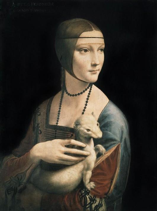 "Leonardo da Vinci, ""Dama z gronostajem"" (źródło: materiały prasowe organizatora)"