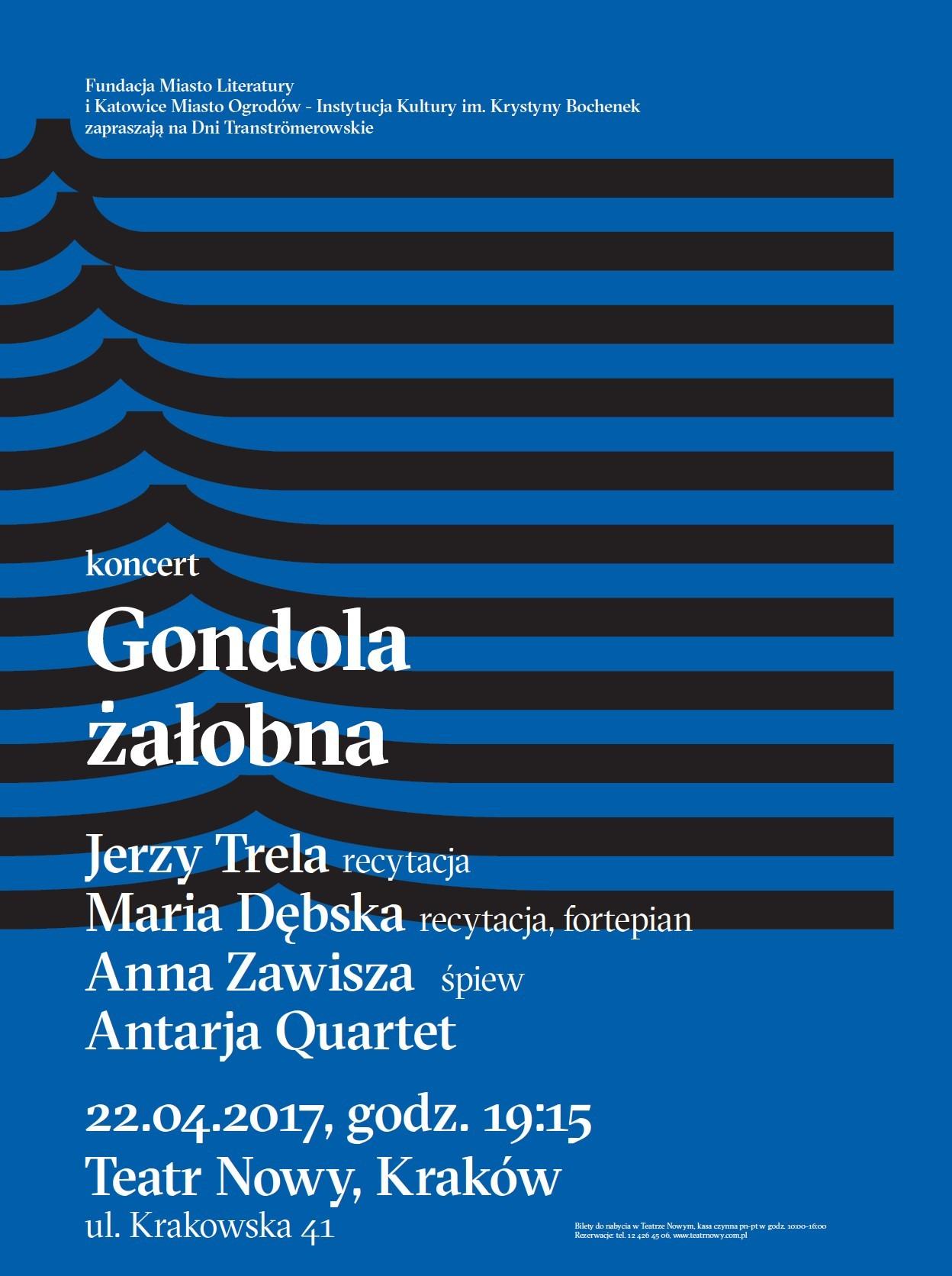 Dni Tranströmerowskie, koncert – plakat (źródło: materiały prasowe)Dni Tranströmerowskie, koncert w Krakowie – plakat (źródło: materiały prasowe)