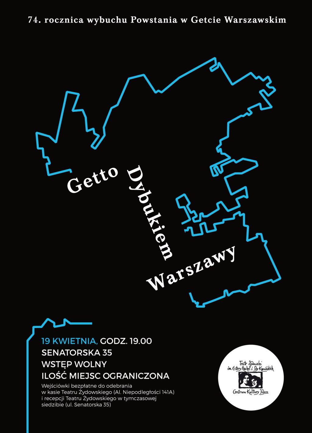 """Teatr Żydowski, """"Getto dybukiem Warszawy"""" (źródło: materiały prasowe teatru)"""