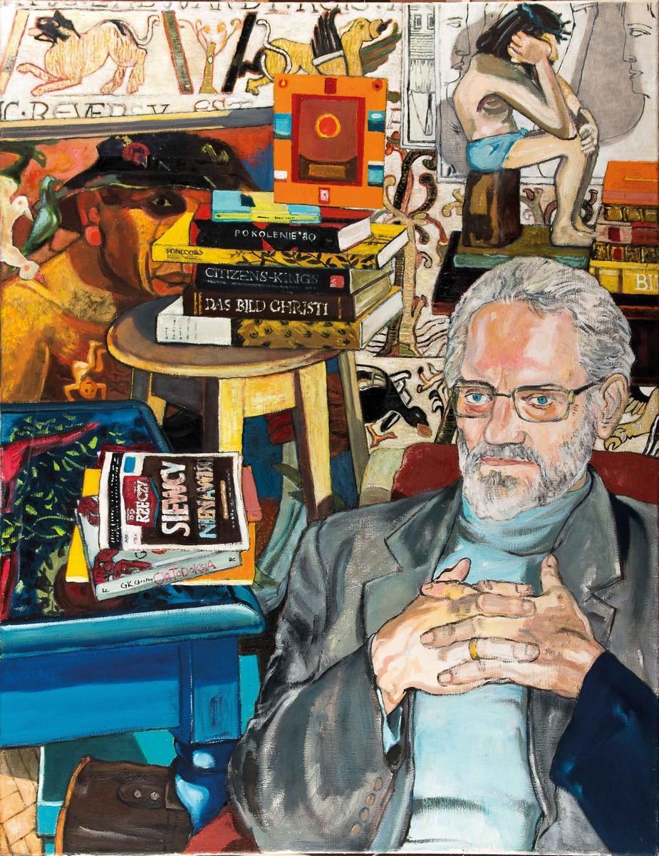 """Grzegorz Bednarski, """"Matematyk [portret prof . R. W]"""", 2011 /2015 (źródło: materiały prasowe organizatora)"""