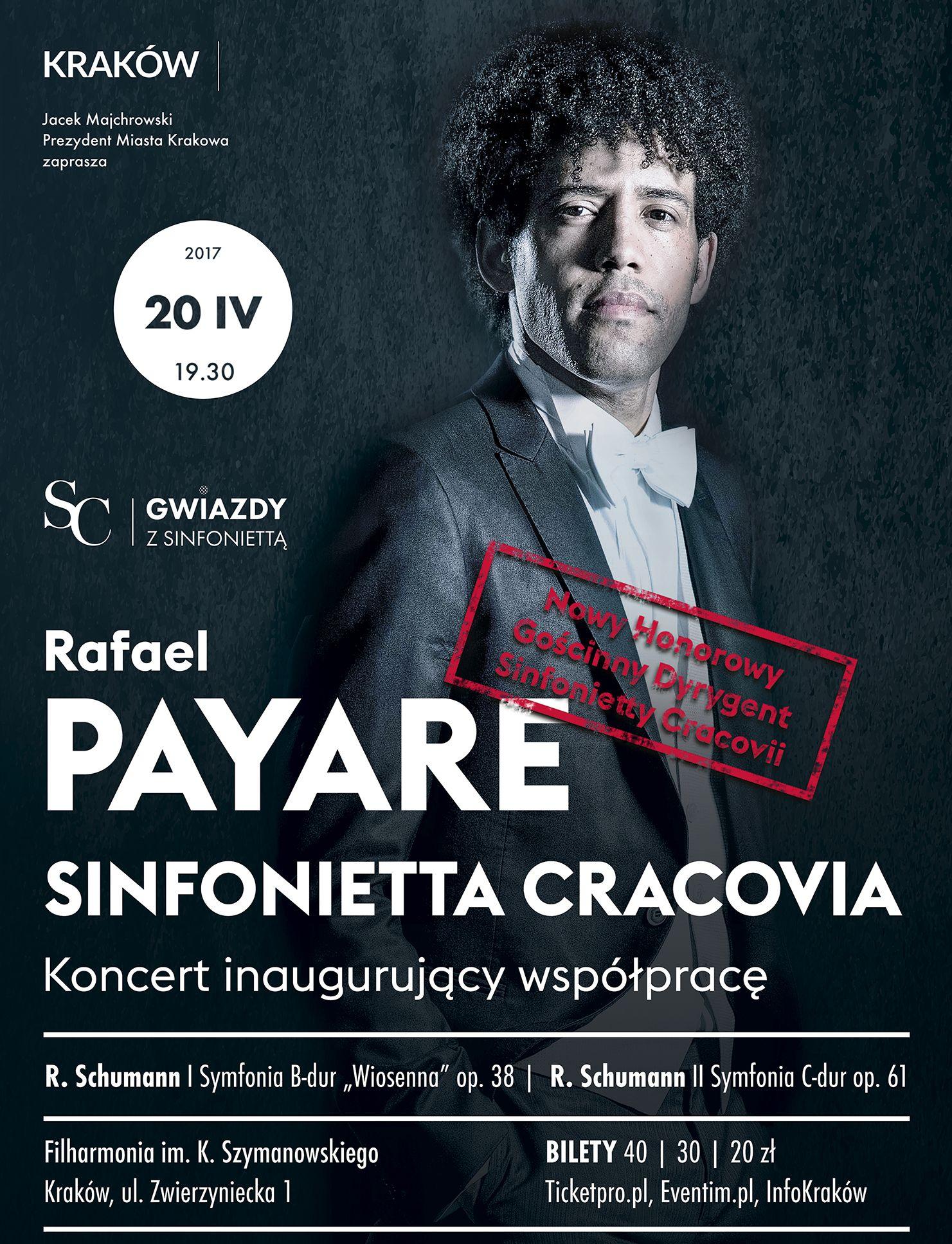 Rafael Payare, Sinfonietta Cracovia (źródło: materiały prasowe organizatora)