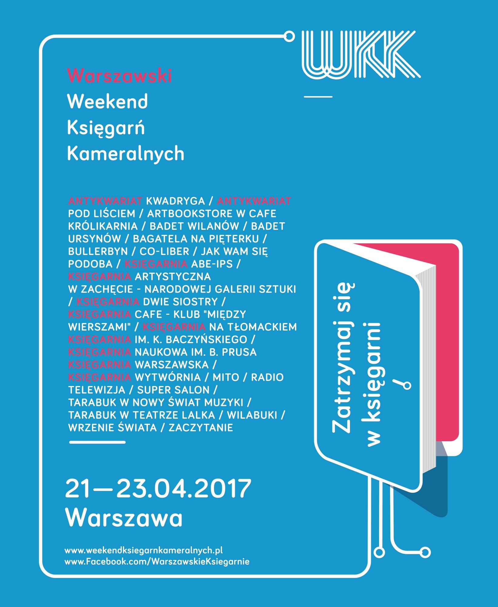 2. Warszawski Weekend Księgarń Kameralnych – plakat (źródło: materiały prasowe organizatora)