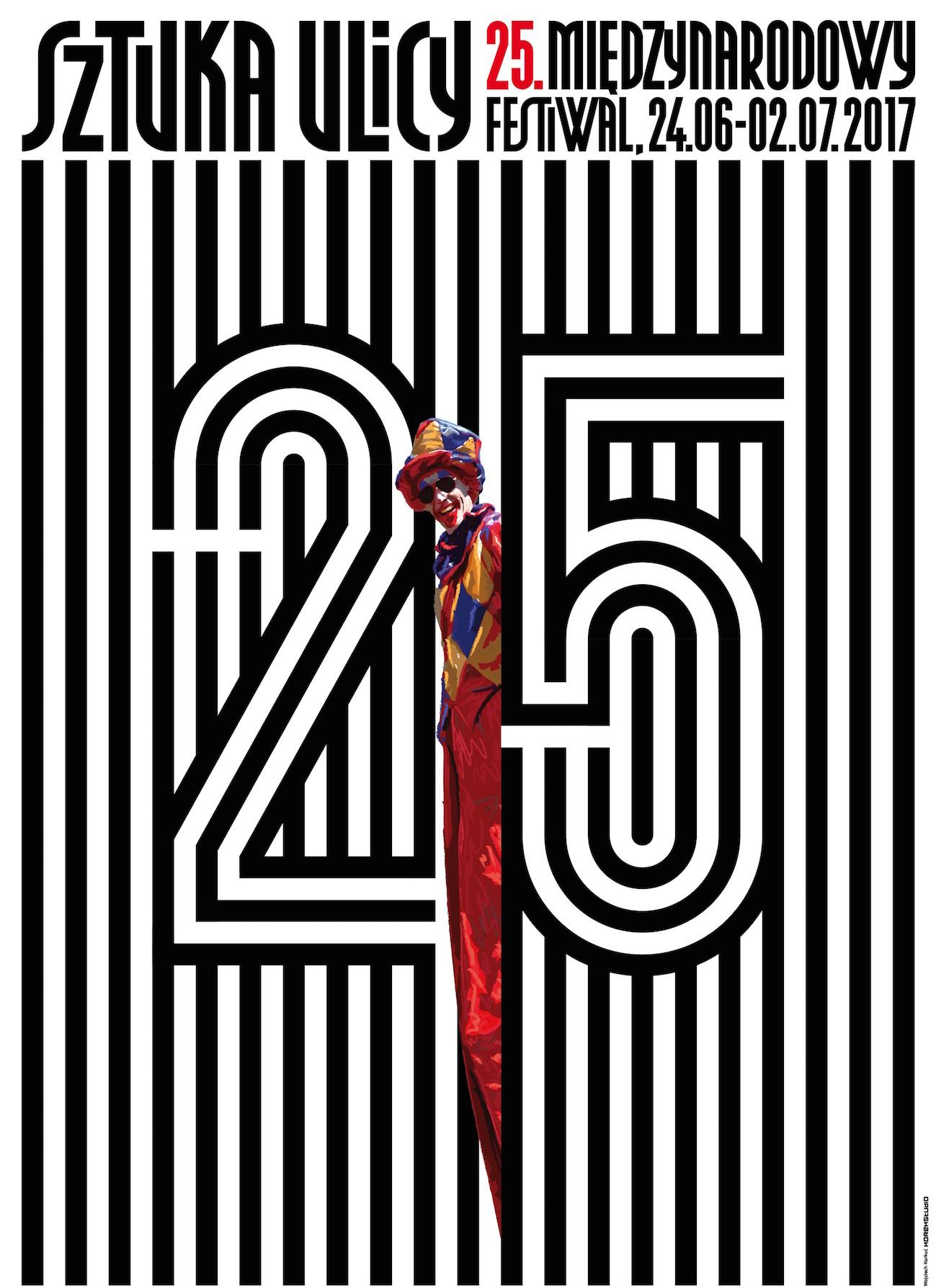 25. Międzynarodowy Festiwal Sztuka Ulicy w Warszawie – plakat (źródło: materiały prasowe organizatora)