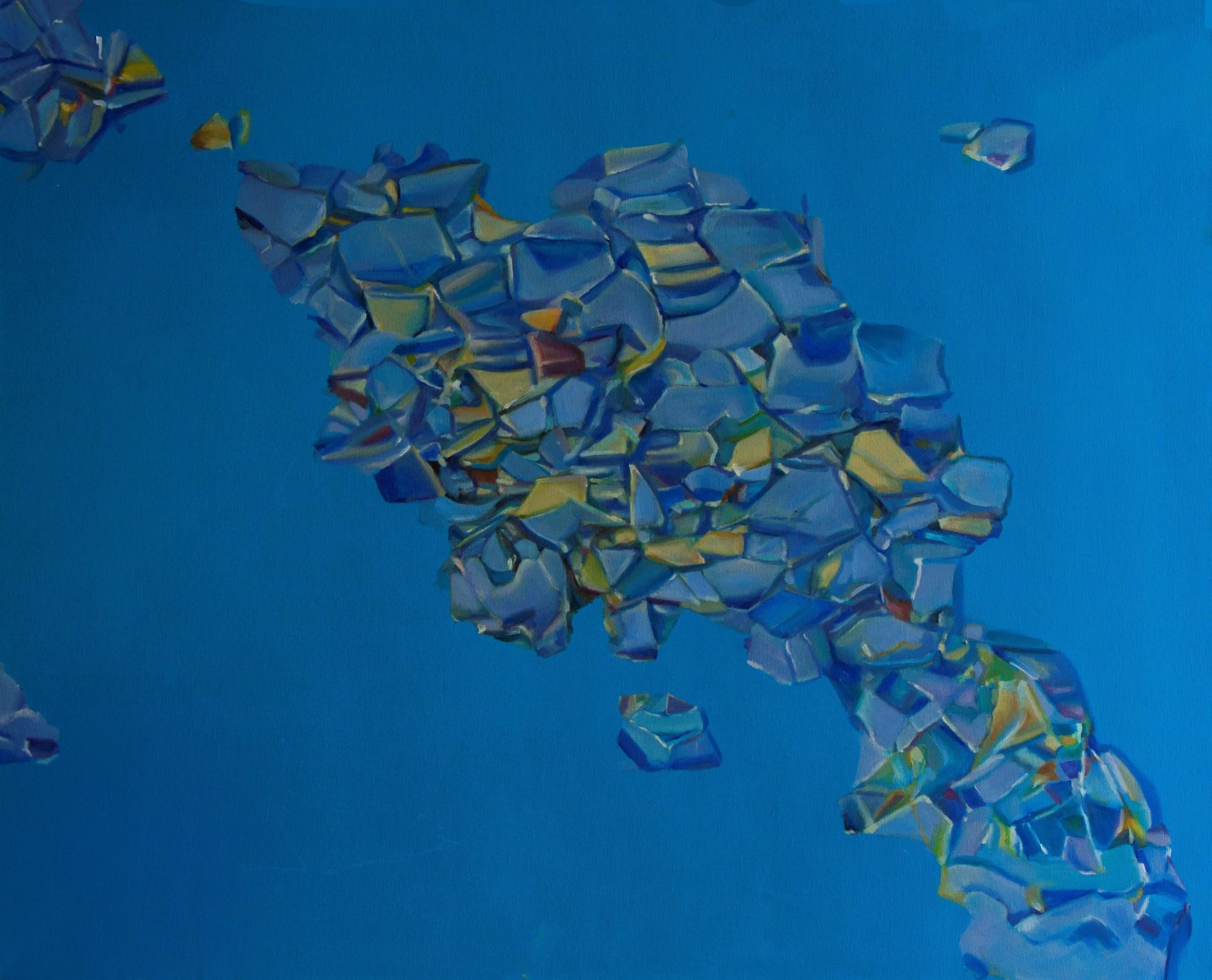 """Anna Róża Kołacka, """"Odpad'ł"""", listopad 2016, akryl i olej na płótnie, 70 x 90 cm (źródło: materiały prasowe organizatora)"""