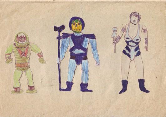"""Tomasz Mróz, około 1986 roku, rysunek na papierze, """"Na Potęgę Posępnego Czerepu"""", dzięki uprzejmości artysty i galerii Piktogram (źródło: materiały prasowe organizatora)"""