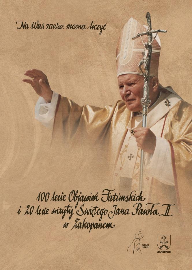 20-lecie wizyty Jana Pawła II w Zakopanem – plakat (źródło: materiały prasowe organizatora)