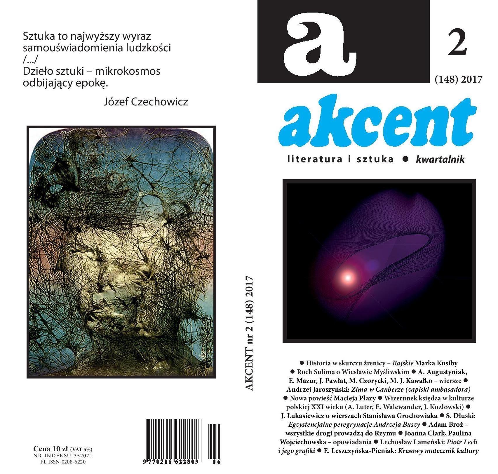 """Kwartalnik """"Akcent"""", nr 2/2017 – okładka (źródło: materiały prasowe wydawcy)"""