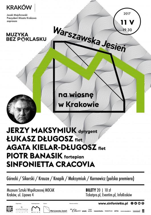 """""""Muzyka bez poklasku: Warszawska Jesień na wiosnę w Krakowie"""" (źródło: materiały prasowe organizatora)"""