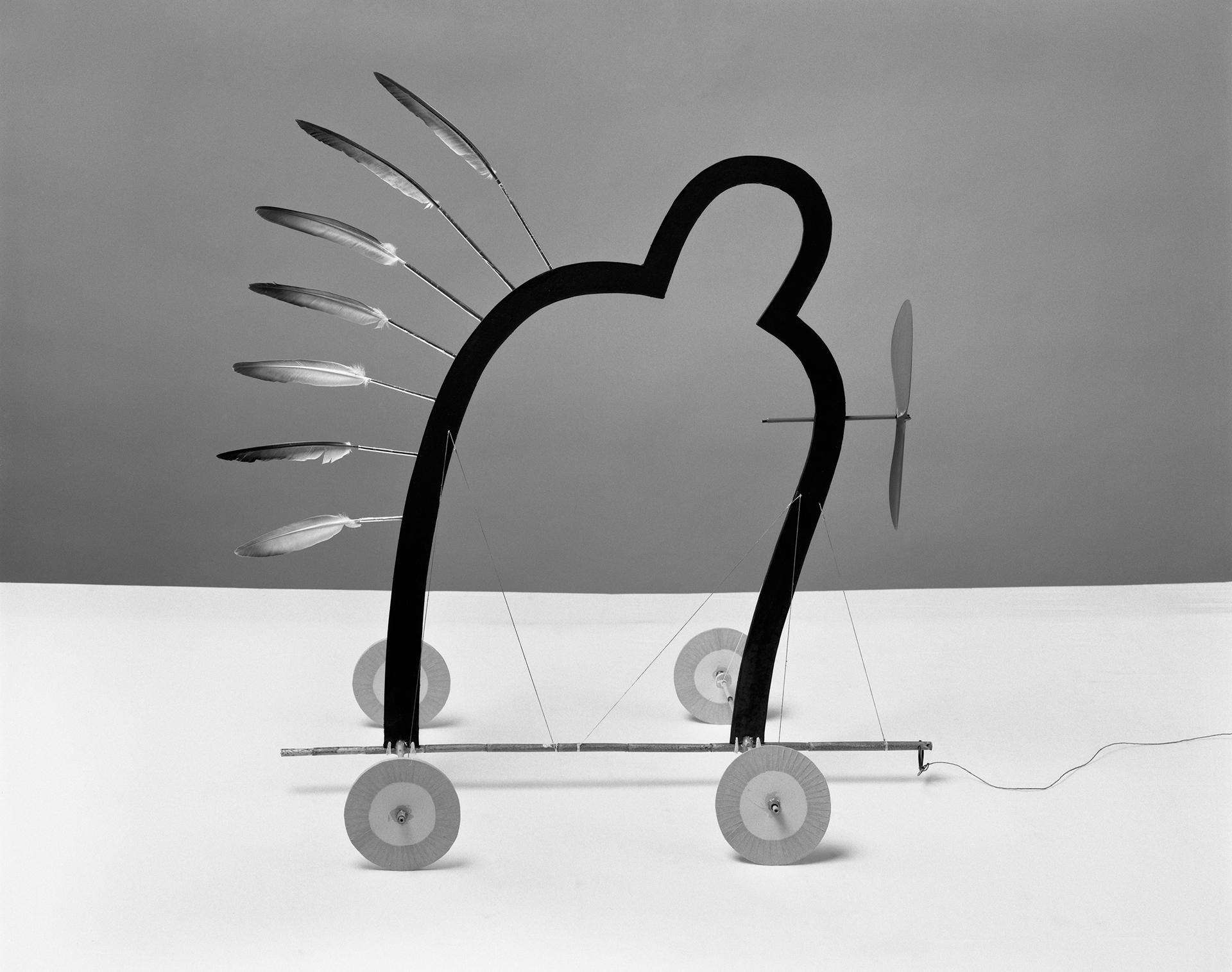 """Grzegorz Przyborek, """"Pielgrzym"""" z cyklu """"Portrety"""", 1990 (źródło: materiały prasowe organizatora)"""