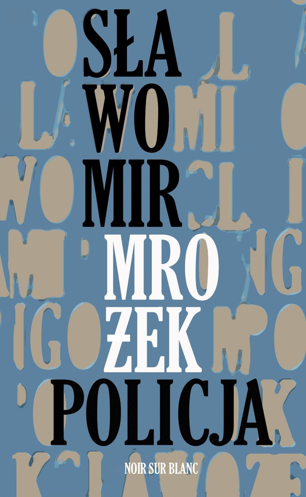 """Sławomir Mrożek, """"Policja"""" (źródło: materiały prasowe wydawnictwa)"""