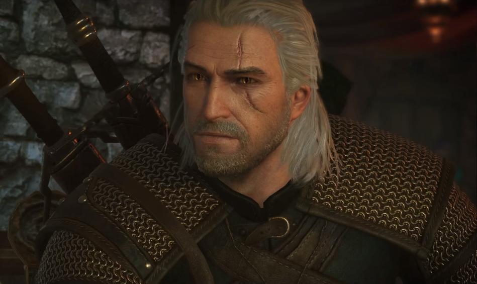 """Wczesny koncept Geralta z Rivii z gry """"Wiedźmin: Dziki Gon"""", autor: BANDAI NAMCO Entertainment Europe (źródło: The Witcher 3: Wild Hunt – PS4/XB1/PC – World Setting (Gamescom Dev Diary)) CC BY 3.0"""