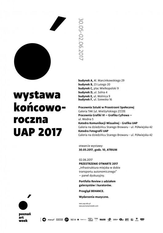 Wystawa Końcoworoczna UAP 2017  – plakat (źródło: materiały organizatora)