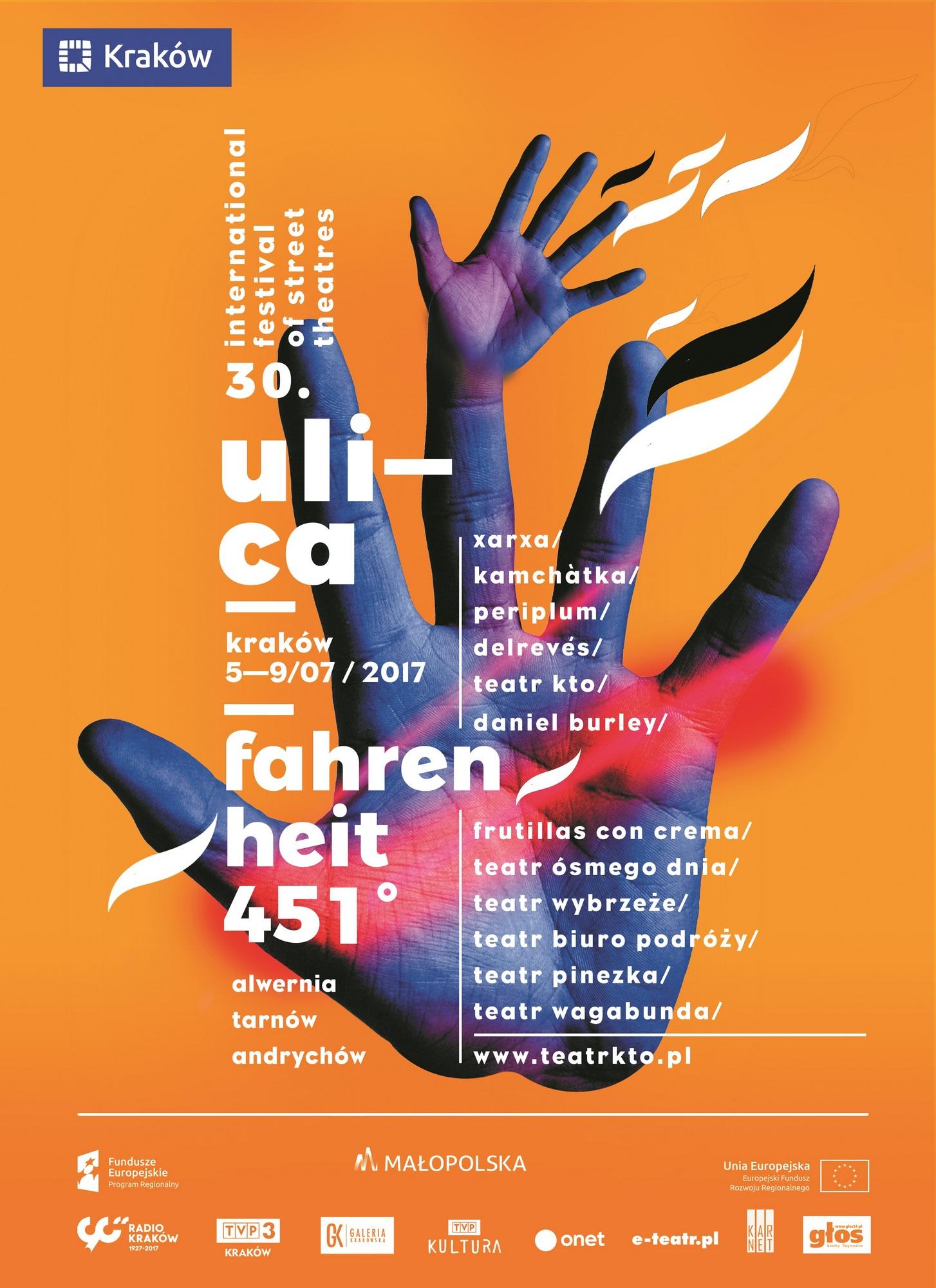 30. Festiwal Teatrów Ulicznych Ulica – plakat (źródło: materiały prasowe organizatora)