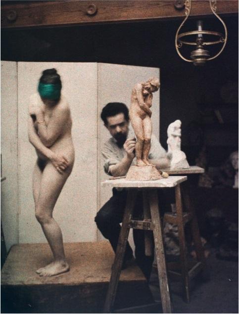 "Leon Gimpel, ""Chez le sculpteur"", Paris, 1911, fot. ⓒ Archiwum kolekcjonerek (źródło: materiały prasowe organizatora)"