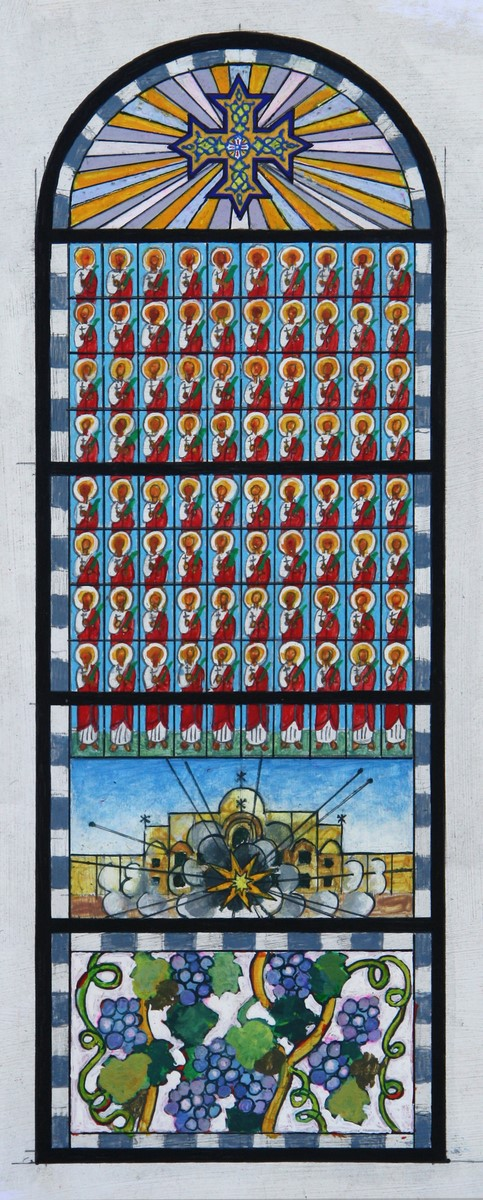 """Jacek Dłużniewski, """"80 Świętych Męczenników Koptyjskich"""" (źródło: materiały prasowe organizatora)"""
