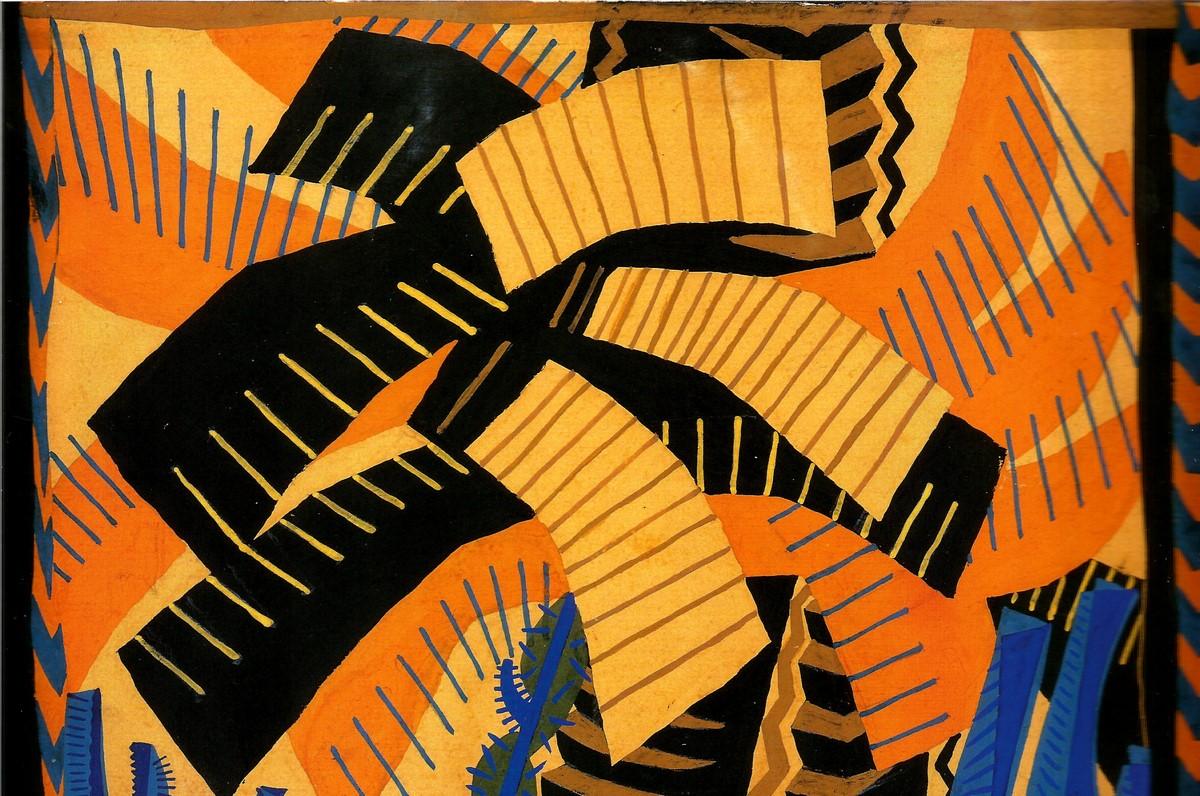 """Enrico Prampolini (1894–1956) Projekt sceniczny do """"Ognistego dobosza"""" Filippa Tommasa Marinettiego, 1920 (źródło: materiały prasowe organizatora)"""