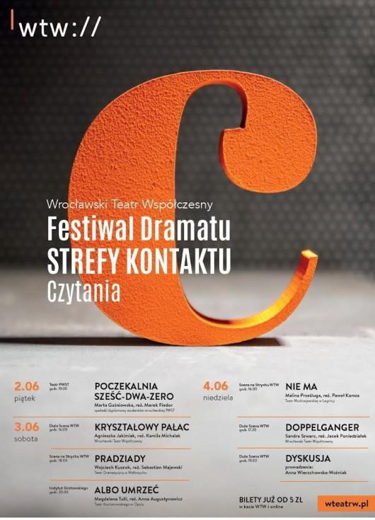 Festiwal Dramatu STREFY KONTAKTU. Czytania 2017 (źródło: materiały prasowe organizatora)