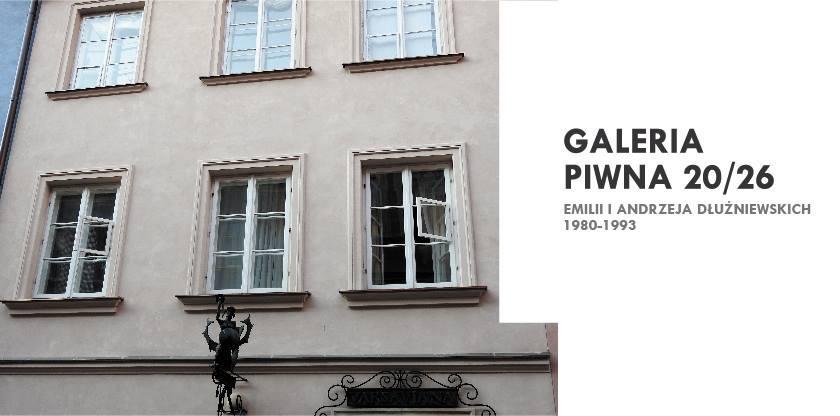 """""""Galeria Piwna 20/26 Emilii i Andrzeja Dłużniewskich 1980–1993"""" (źródło: materiały prasowe organizatora)"""