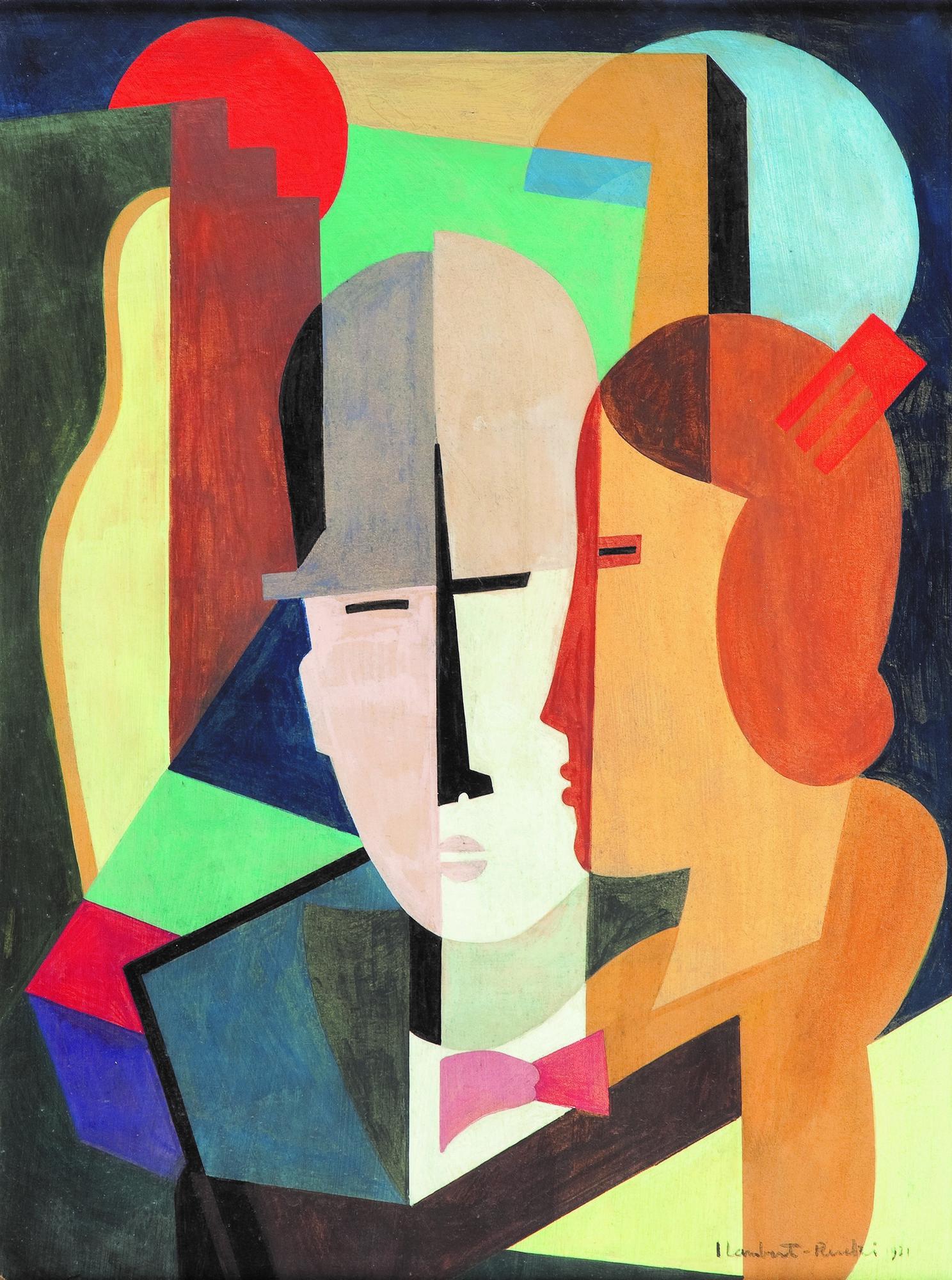"""Jean Lambert-Rucki, """"Para"""", 1931, 48 x 36 cm, olej na płycie, fot. dzięki uprzejmości Villi la Fleur (źródło: materiały prasowe organizatora)"""