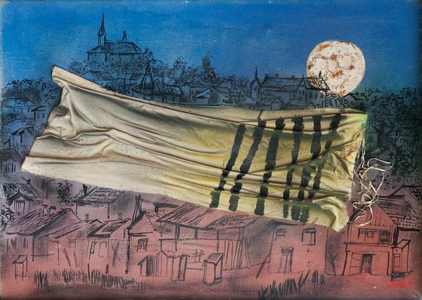 """Jonasz Stern, """"Kałusz w roku 1942"""", 1988 (źródło: materiały prasowe organizatora)"""