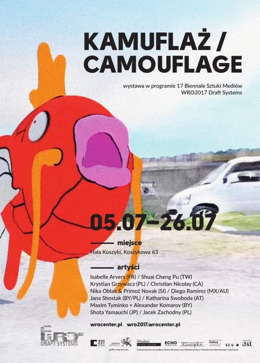 """Wystawa """"Kamuflaż"""" – plakat (źródło: materiały prasowe organizatora)"""