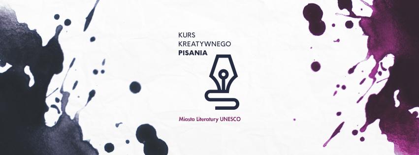 Kurs Kreatywnego Pisania Miasta Literatury UNESCO – logotyp (źródło: materiały prasowe organizatora)