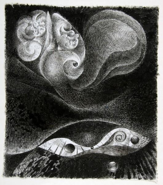 """Henryk Morel, """"Kompozycja"""", z cyklu """"Lunapark"""", 1966 (źródło: materiały prasowe organizatora)"""