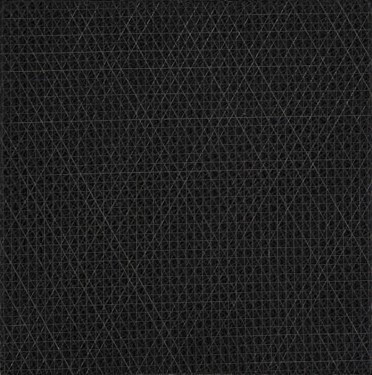 """François Morellet, """"3 siatki nałożone pod kątem 0, 30, 60 stopni"""", 1972 (źródło: materiały prasowe organizatora)"""