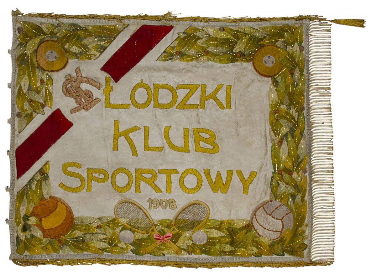 Sztandar Łódzkiego Klubu Sportowego, początek lat 20. XX w (źródło: materiały prasowe organizatora)