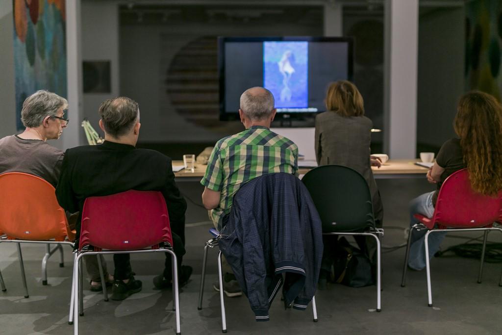 Podczas 1. posiedzenia jury Bielskiej Jesieni 2017, Galeria Bielska BWA, 2.06.2017, Bielsko-Biała, foto Krzysztof Morcinek (źródło: materiały prasowe organizatora)