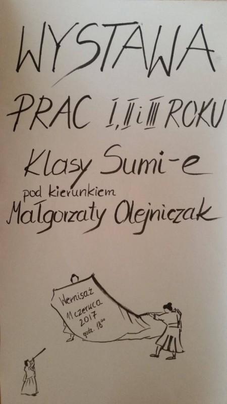 """""""Wystawa prac I, II, III roku klasy sumie-e"""" (źródło: materiały prasowe organizatora)"""