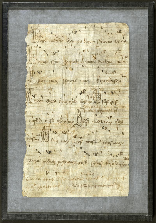 """""""Bogurodzica"""", 1407, Biblioteka Jagiellońska (źródło: materiały prasowe )"""