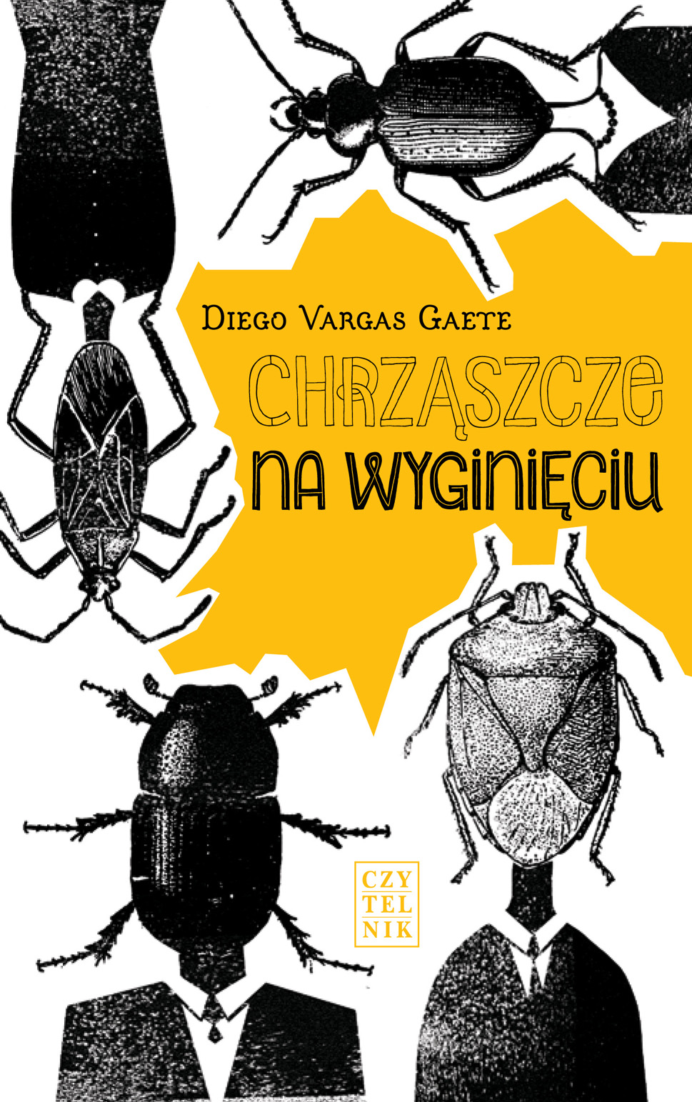 """Diego Vargas Gaete,""""Chrząszcze na wyginięciu"""" – okładka (źródło: materiały prasowe wydawcy)"""