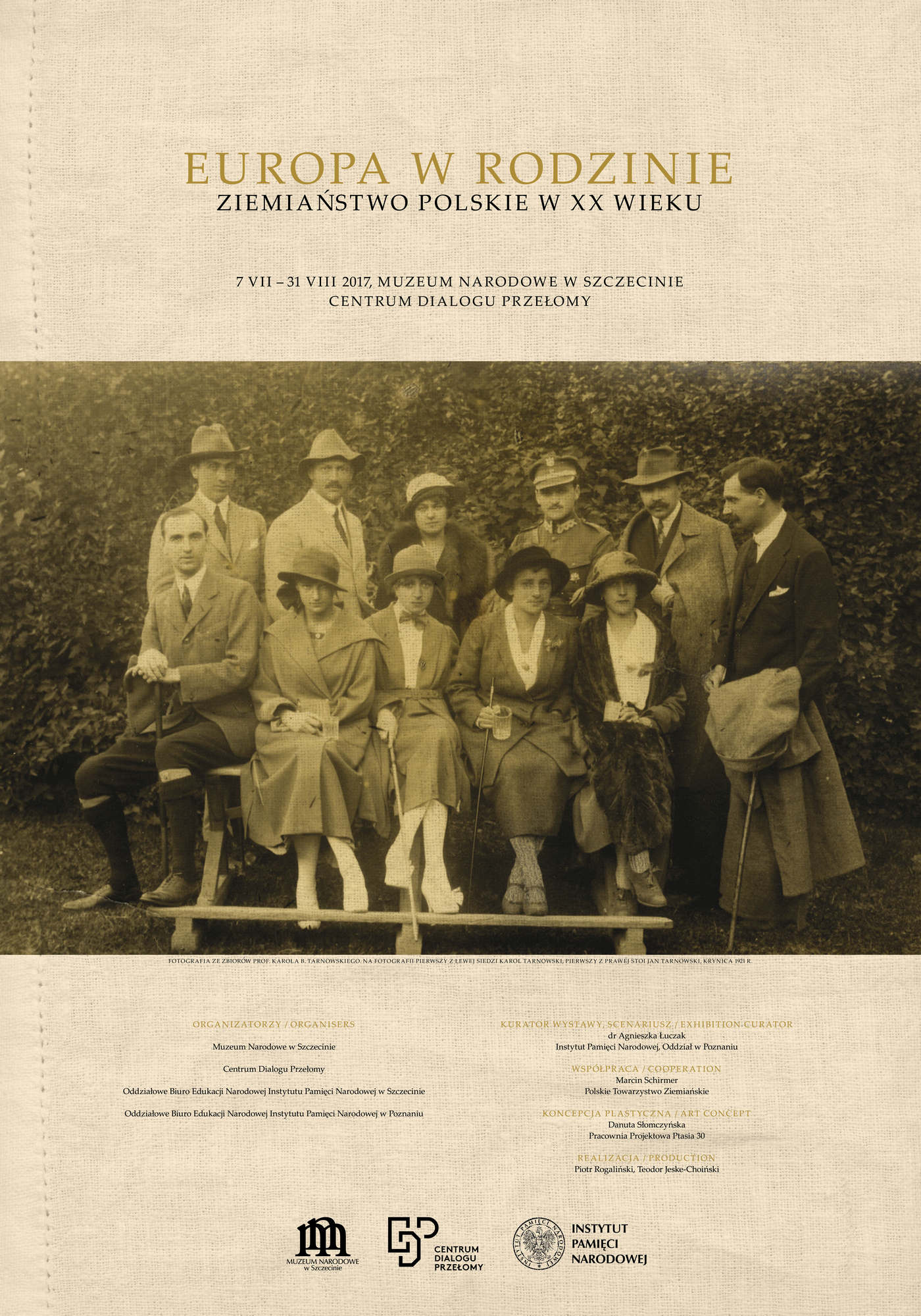 """""""Europa w rodzinie. Ziemiaństwo polskie w XX wieku"""" – plakat (źródło: materiały prasowe organizatora)"""
