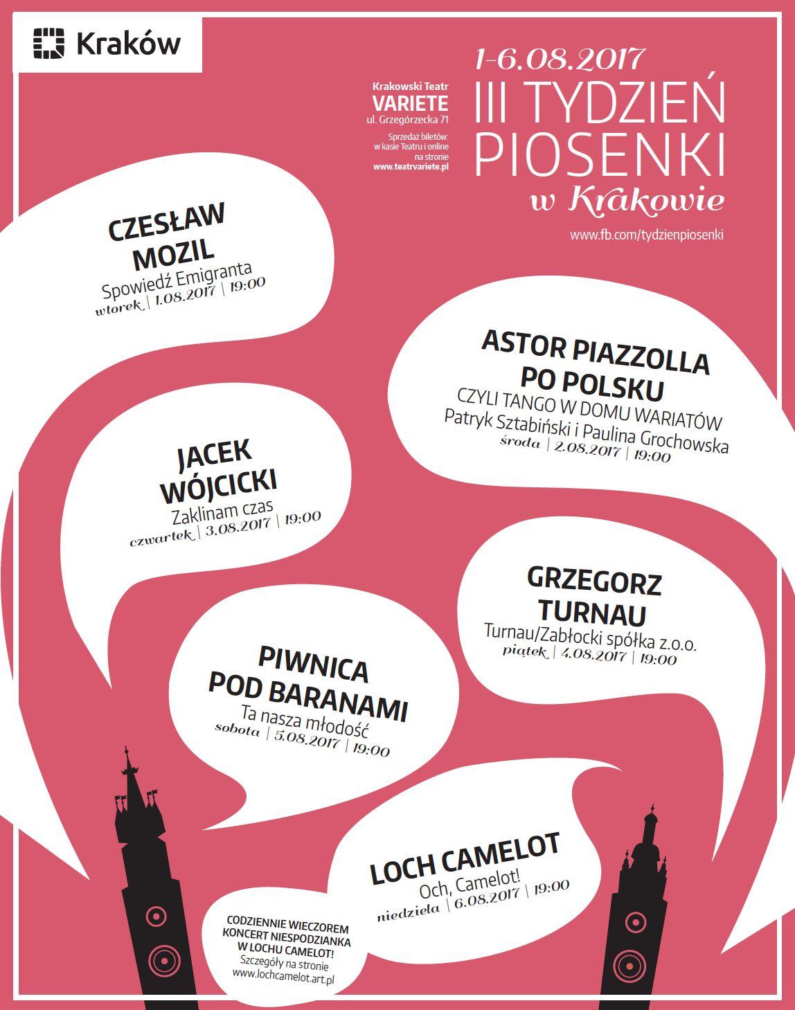 III Tydzień Piosenki w Krakowie (źródło: materiały prasowe)