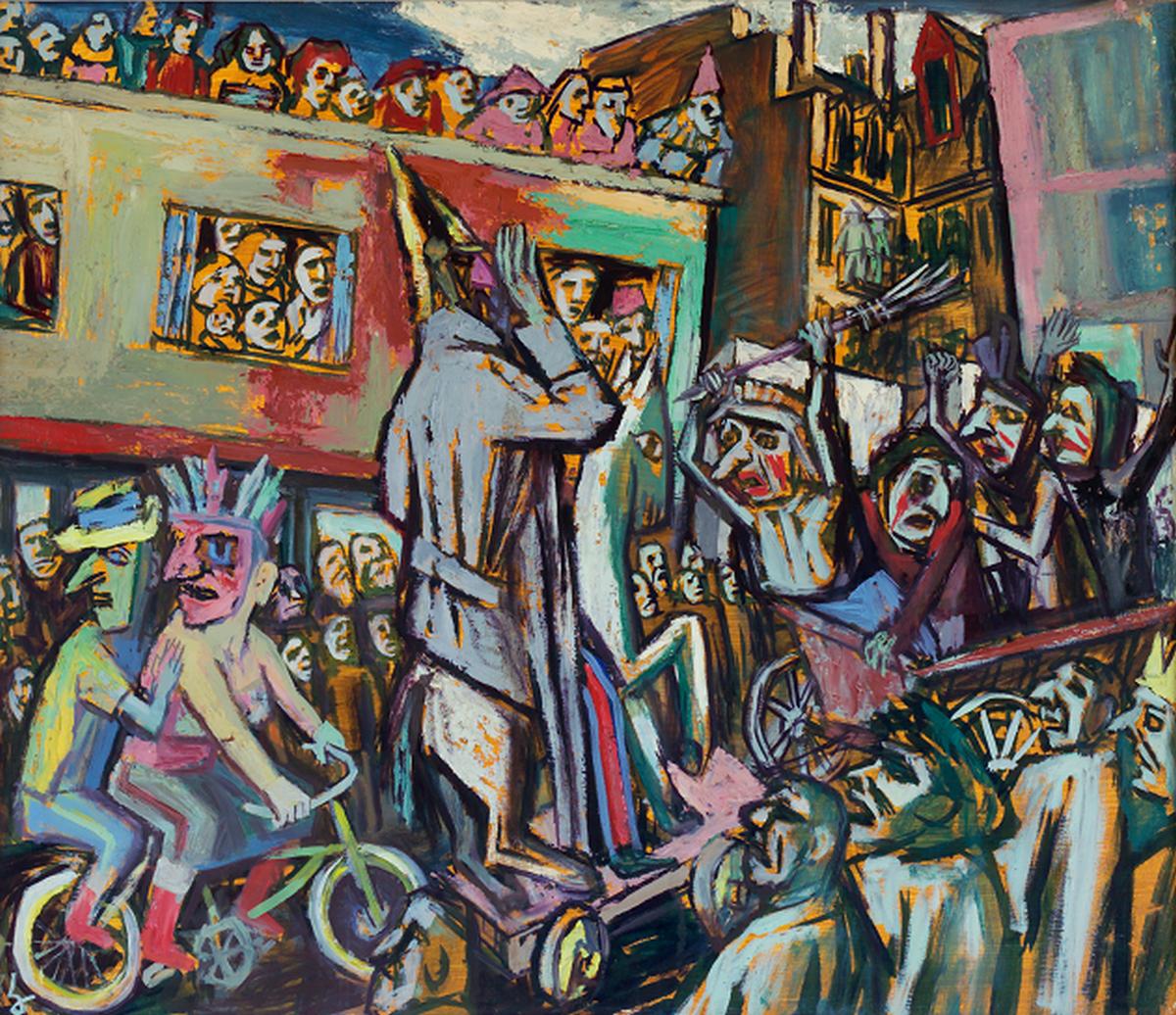 """Karl Hunnuch, """"Ludowy karnawał"""", 1953 (źródło: materiały prasowe organizatora)"""