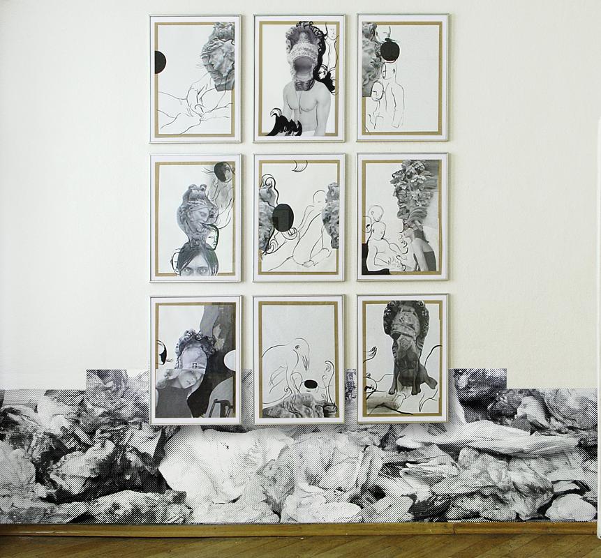 """Klaus Killisch, """"Krieger und Helme/Wojownicy i hełmy"""", 2007/2008 (źródło: materiały prasowe organizatora)"""