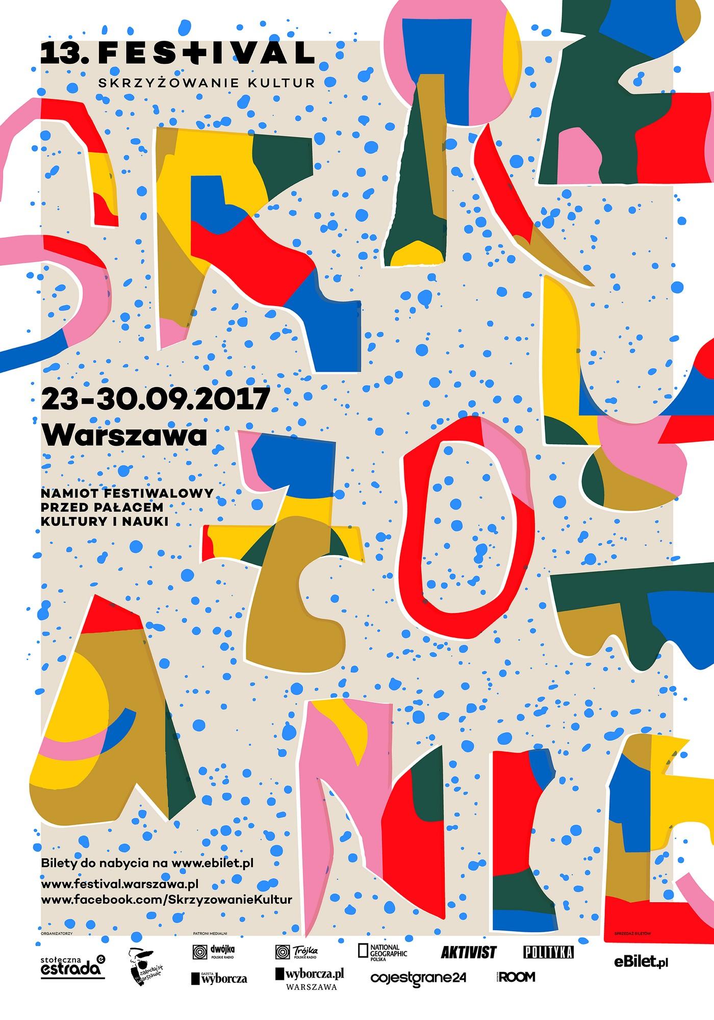 13. Festiwal Skrzyżowanie Kultur – plakat (źródło: materiały prasowe organizatora)