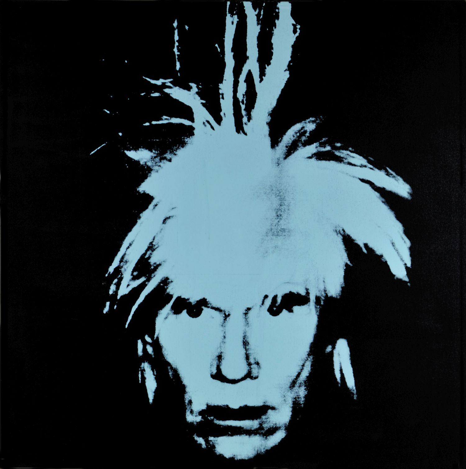 Andy Warhol, autoportret, sitodruk, 1978 (źródło: materiały prasowe)
