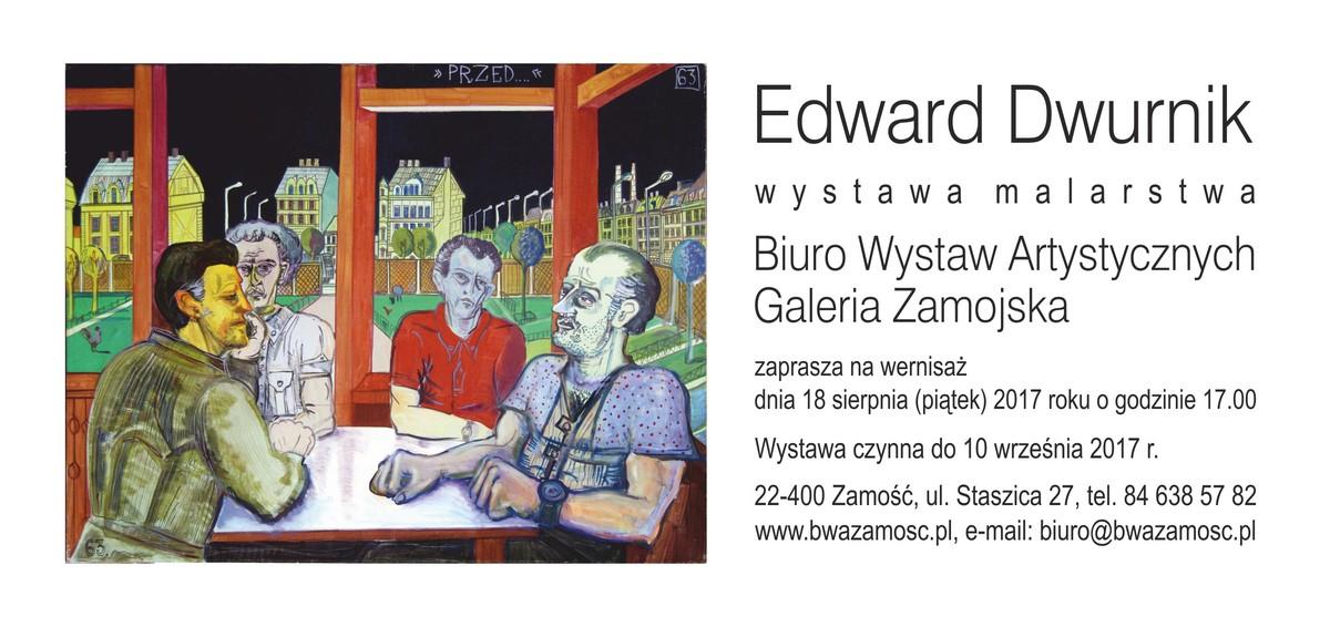 """""""Edward Dwurnik. Wystawa malarstwa"""" (źródło: materiały prasowe organizatora)"""