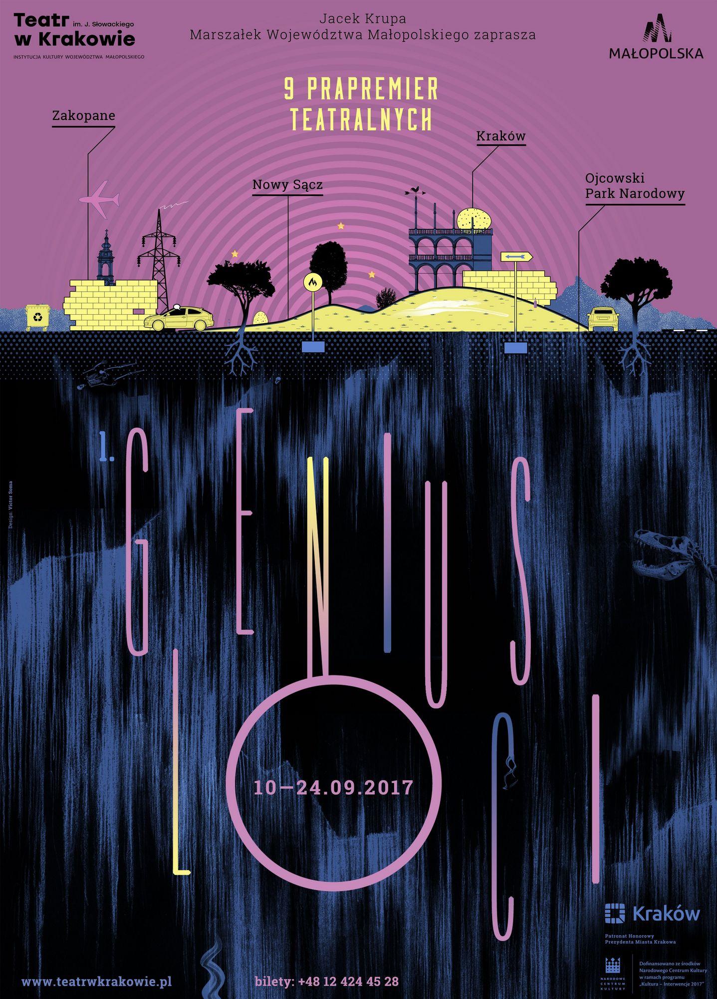 Festiwal Genius Loci – plakat (źródło: materiały prasowe organizatora)